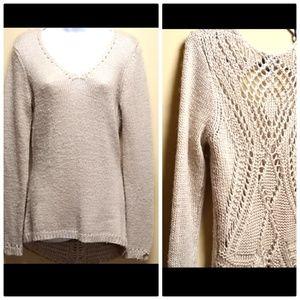Fenn Wright Manson Creme Lace Knit Back Sweater